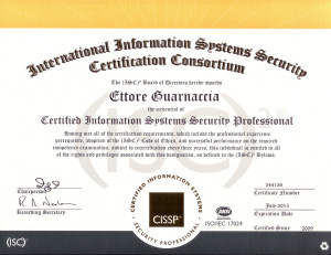 Nuovo certificato CISSP