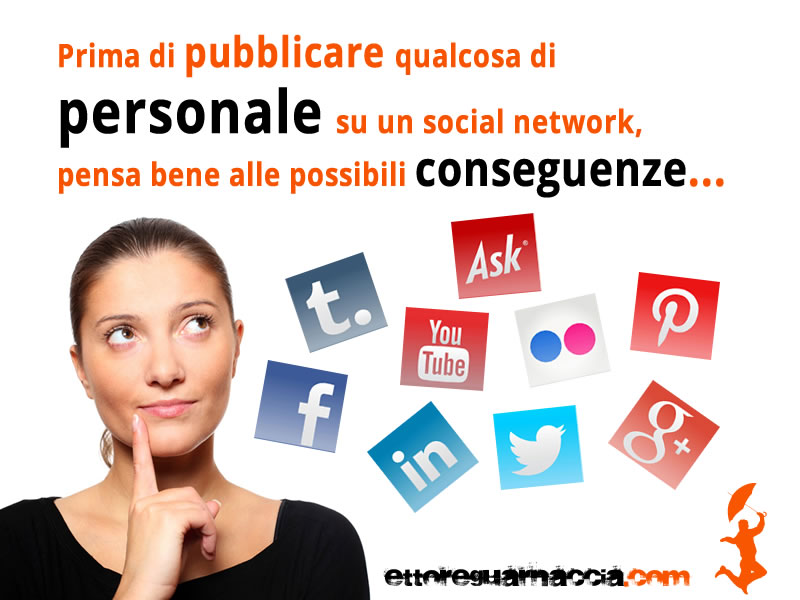 Prima di pubblicare qualcosa di personale su un social network, pensa bene alle possibili conseguenze… Think twice, pensaci almeno due volte prima di pubblicare qualcosa. Poniti, ad esempio, delle domande: potrò pentirmi un giorno di […]