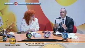 """Intervento in diretta TV nel programma """"Sveglia Veneti!"""" su Rete Veneta"""